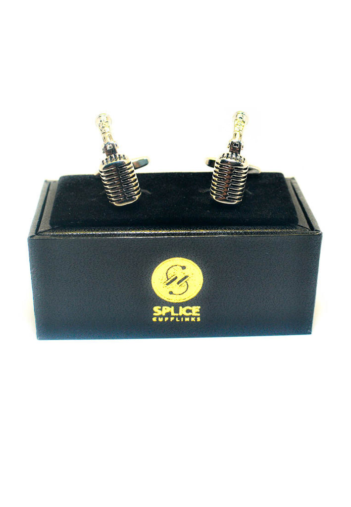 Retro Studio Microphone Cufflinks