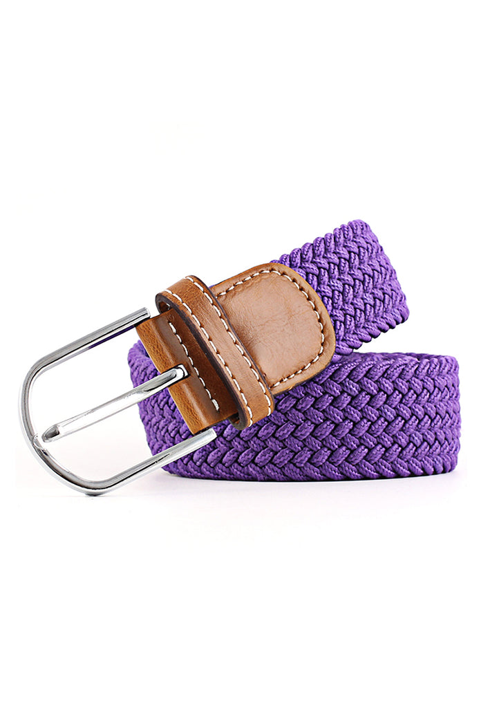 Entwine Series Violet Purple Braided Belts