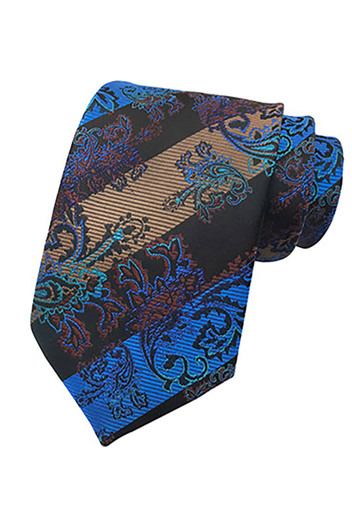 Medley Series Blue, Black and Brown Neck Tie