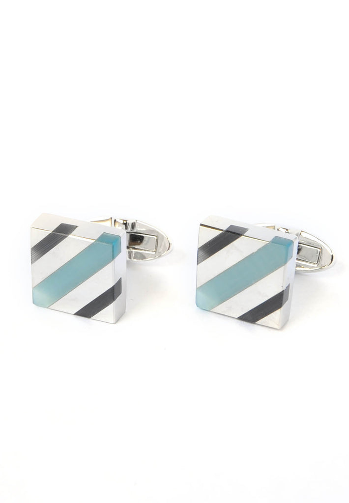 Blue & Teal Acrylic Cufflinks