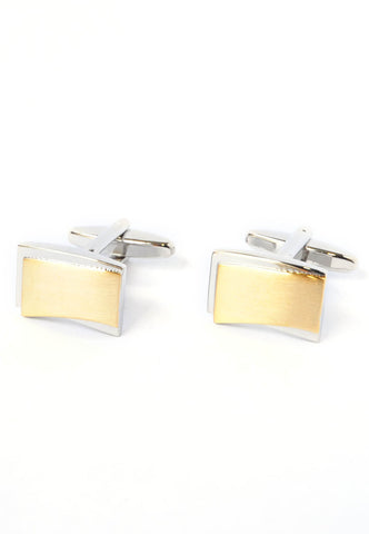 2 Tone Brushed Cufflinks