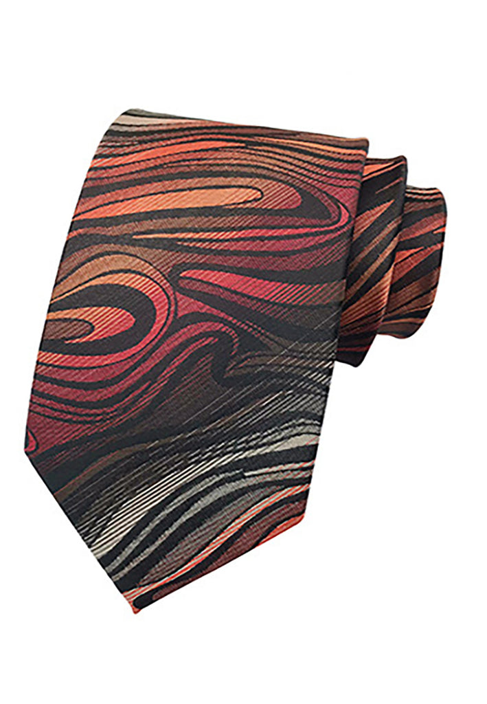 Medley Series Orange and Red Neck Tie