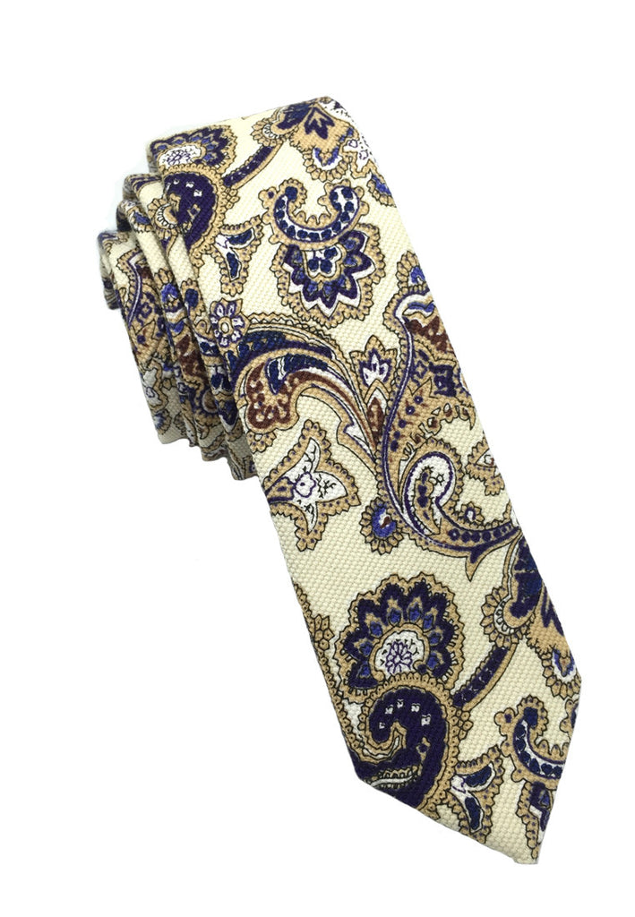 Potpurri Series Blue Batik Design Cotton Tie
