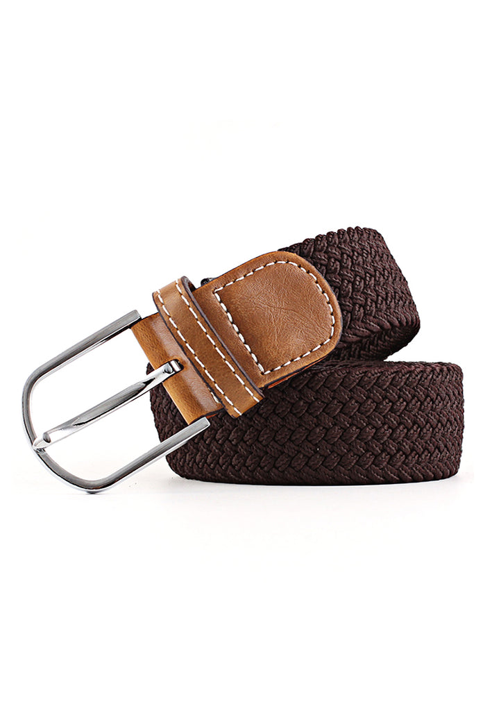 Entwine Series Dark Brown Braided Belts
