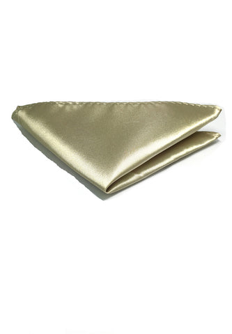 Lustrous Series Champagne Gold Polyester Pocket Square