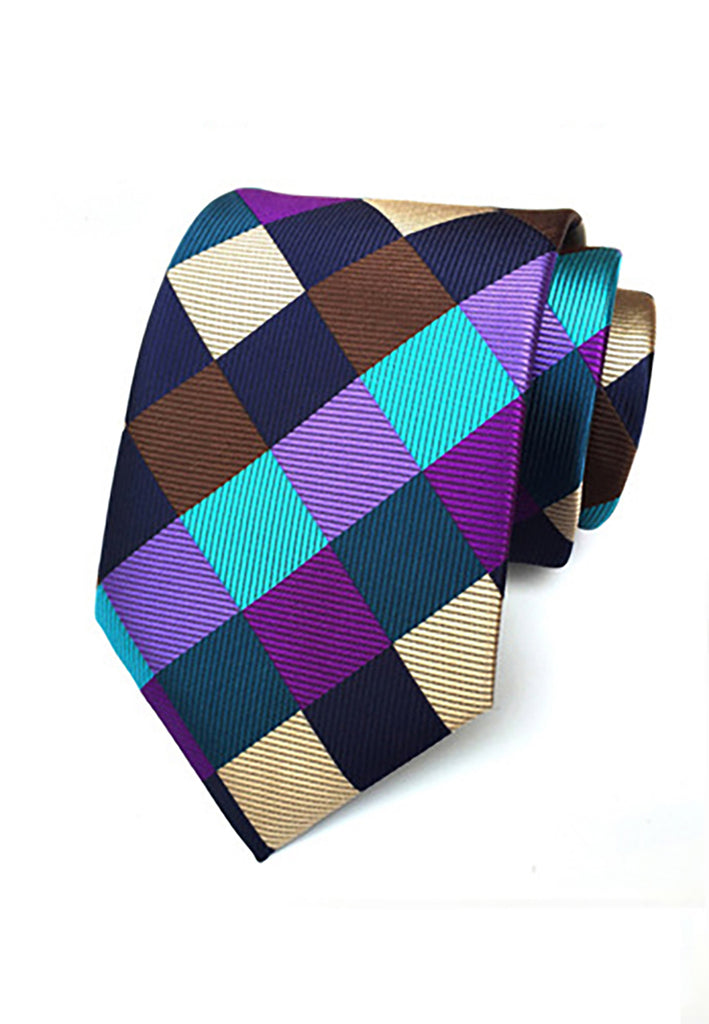 Checky Series Multicolor Neck Tie