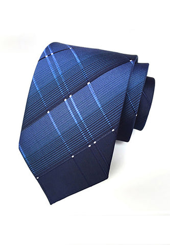 Checky Series Navy Blue Neck Tie