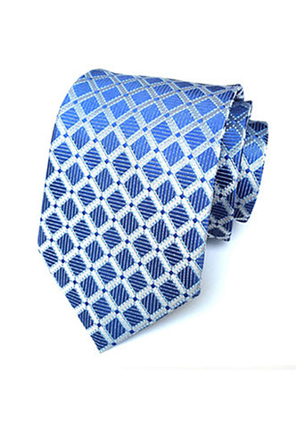 Checky Series Light Blue Neck Tie