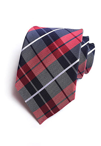 Checky Series Blue & Red Neck Tie