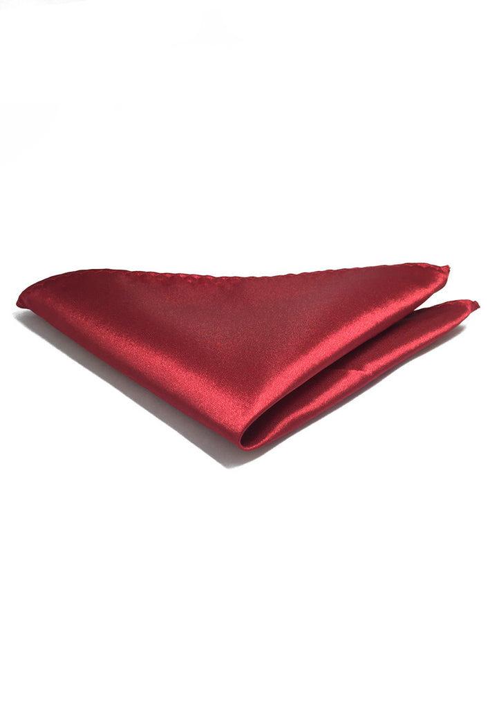Lustrous Series Carmine Red Polyester Pocket Square