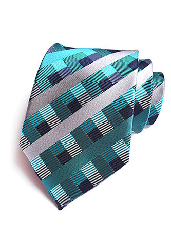 Checky Series Green & Blue Neck Tie