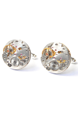 20mm Round Watch Movement Cufflinks