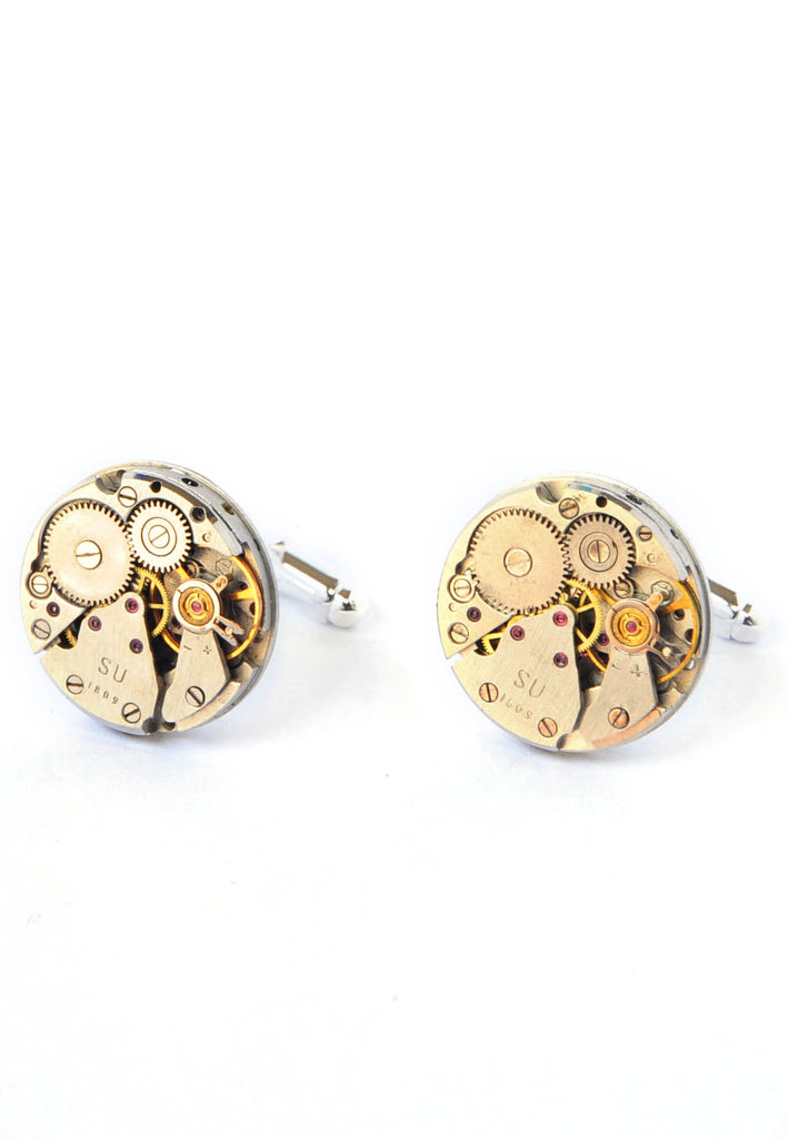 18mm Round Watch Movement Cufflinks