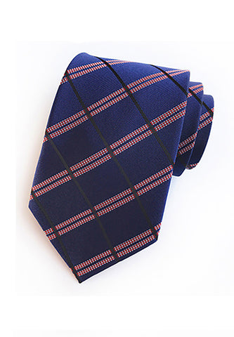 Checky Series Dark Blue & Red Neck Tie