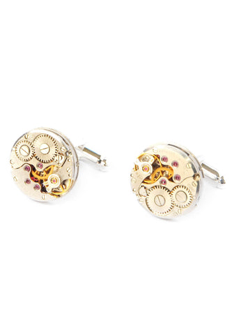16mm Round Watch Movement Cufflinks