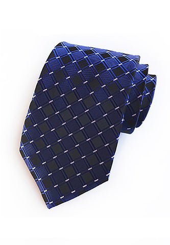 Checky Series Dark Blue Neck Tie