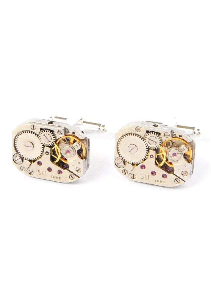 Rectangular Original Watch Movement Cuffinks