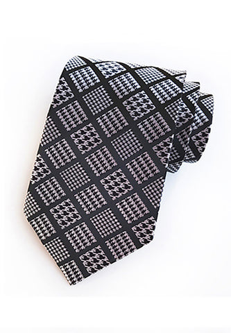 Checky Series Greenish Grey Neck Tie
