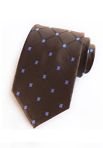 Checky Series Brown Neck Tie
