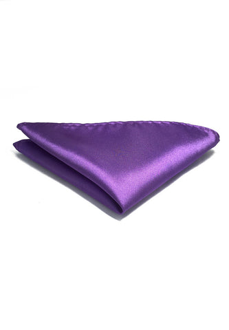 Lustrous Series Fuchia Purple Polyester Pocket Square