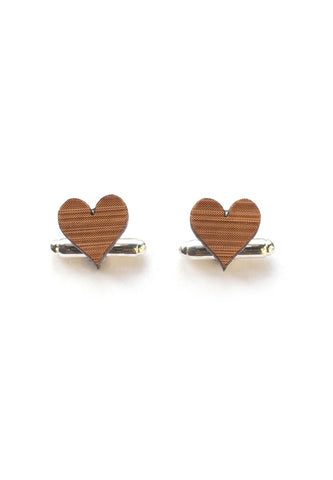 Handmade Love Heart Cufflinks