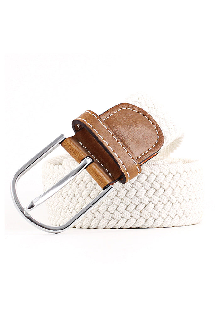 Entwine Series White Braided Belts