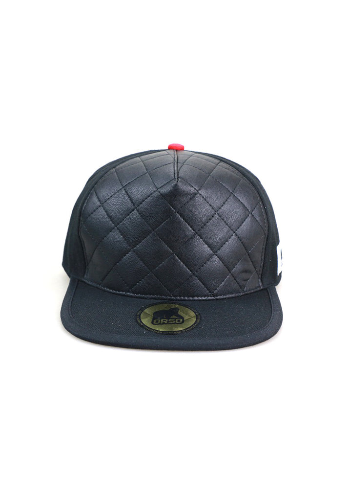 Orso Limited Edition Leather Crown Black Cotton Cap