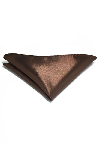 Lustrous Series Dark Brown Polyester Pocket Square