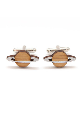 Handmade Saturn Planet Cufflinks