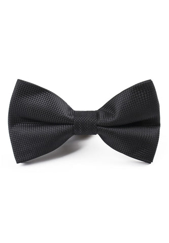 Ebony Series Polyester Black Bow Tie