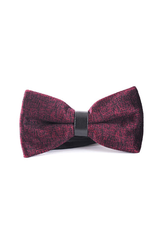 Decorous Series Burgundy Velvet Bow Tie