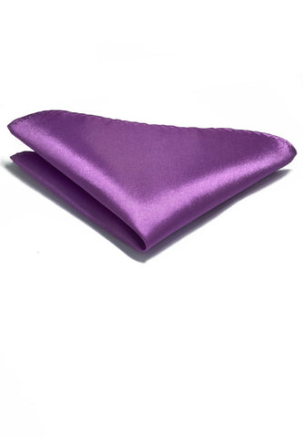 Lustrous Series Magenta Polyester Pocket Square