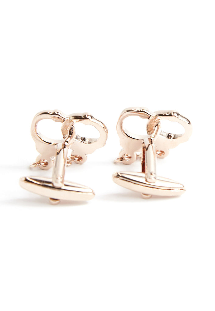 Rose Gold Handcuffs Cufflinks