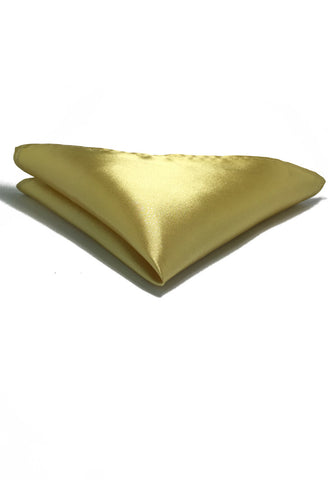 Lustrous Series Pale Yellow Polyester Pocket Square
