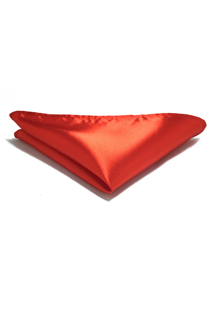 Lustrous Series Bright Red Polyester Pocket Square
