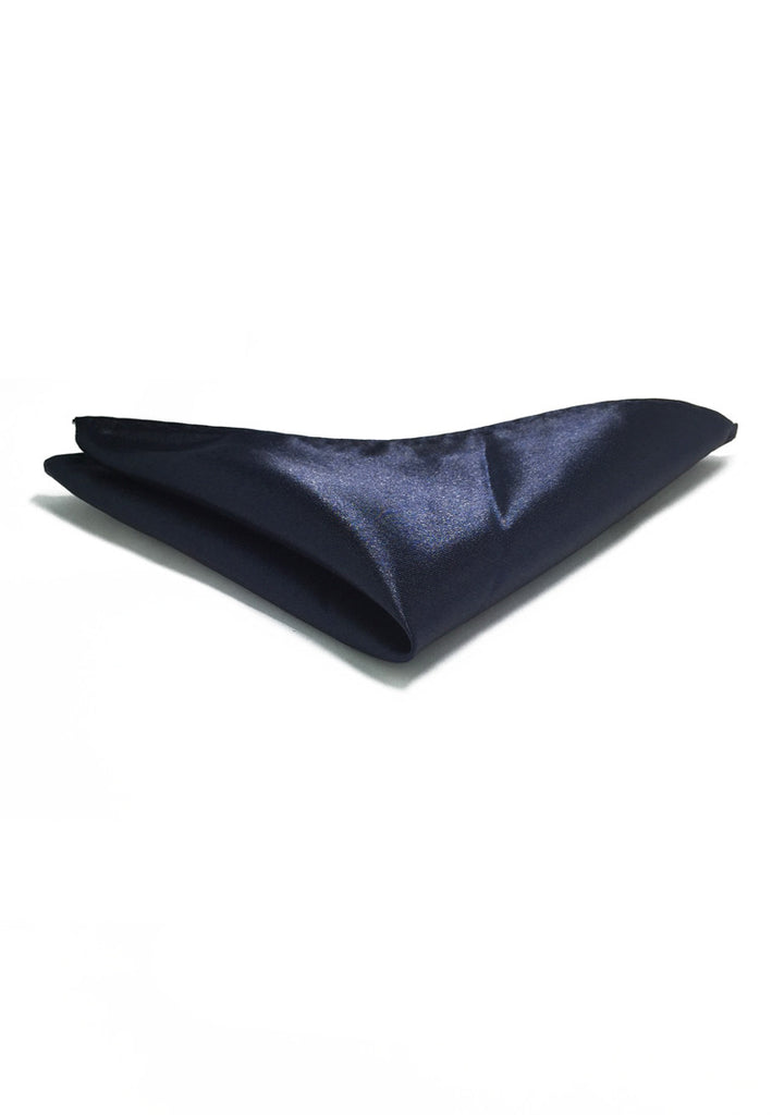 Lustrous Series Navy Blue Polyester Pocket Square