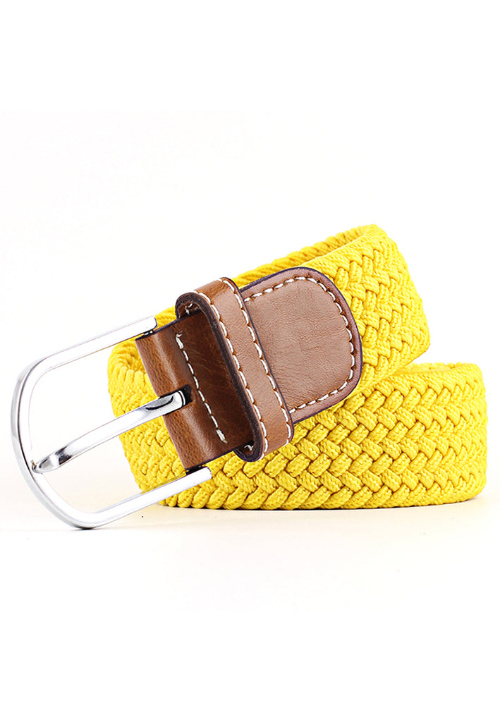 Entwine Series Yellow Braided Belts