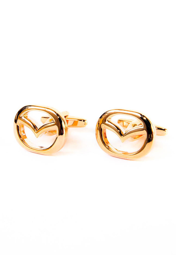 Rose Gold Mazda Badge Cufflinks