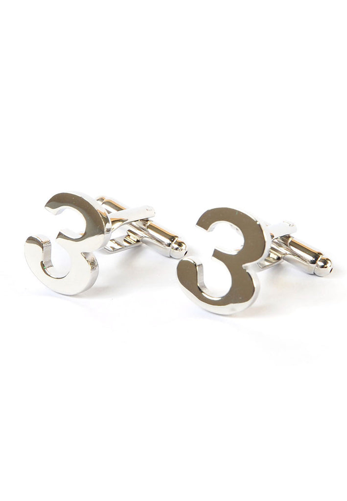 Number Three 3 Cufflinks