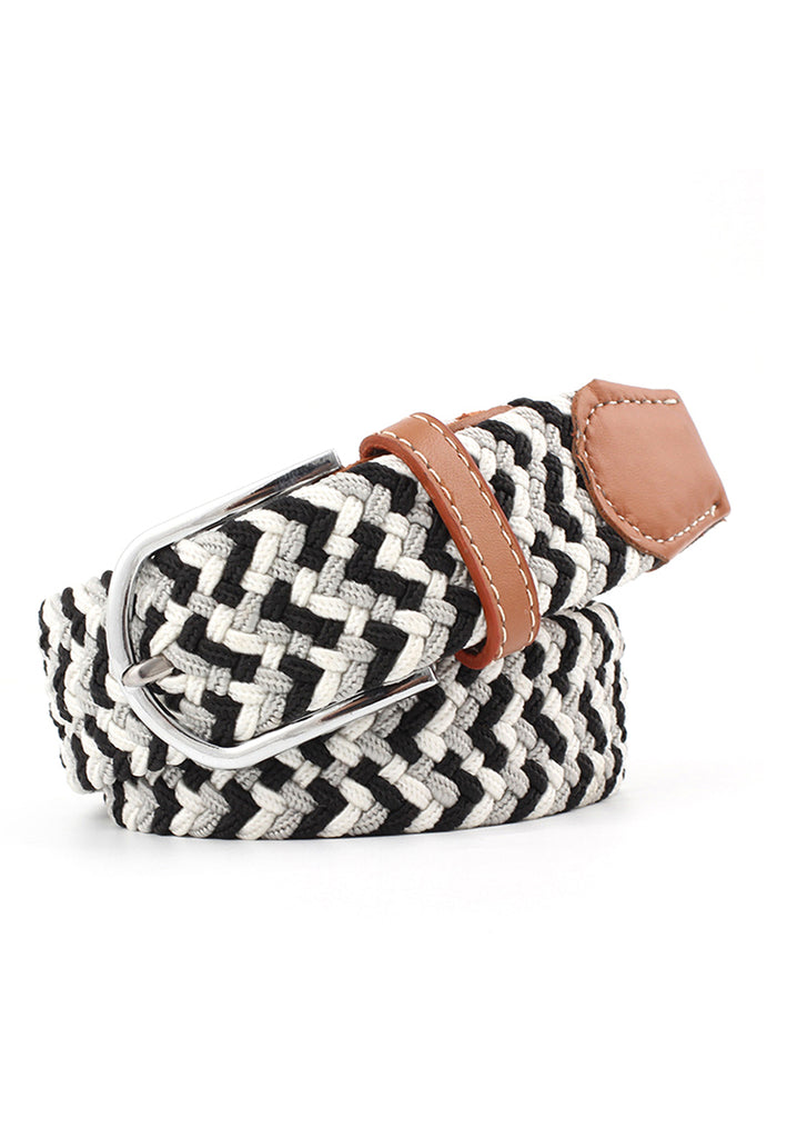 Entwine Series Black, Grey & White Braided Belts