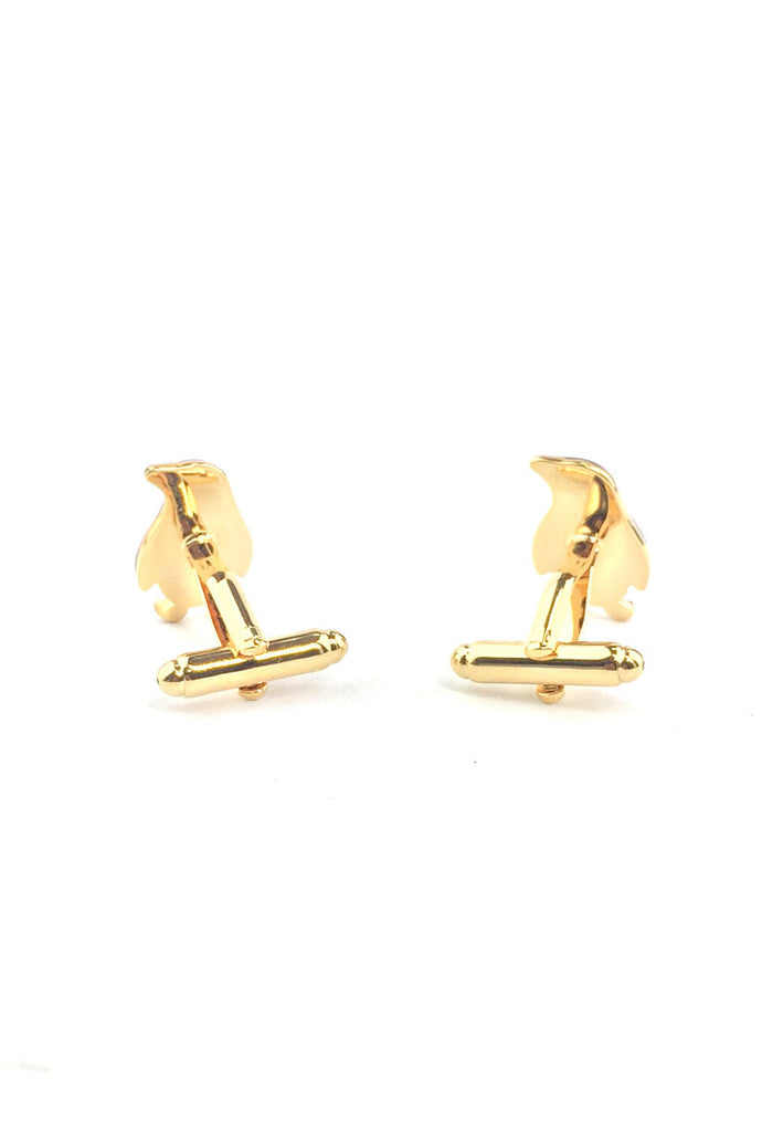 Cute Gold Penguins Cufflinks