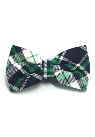 Probe Series Green, Black and White Tartan Design Cotton Pre-tied Bow Tie