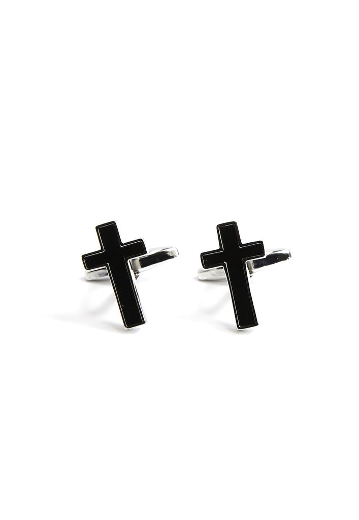 Black Christian Cross Cufflinks