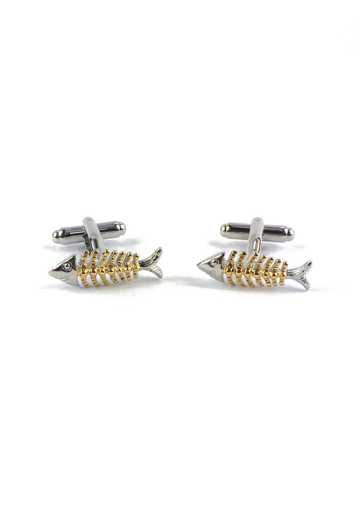 Silver and Gold Fish Cufflinks