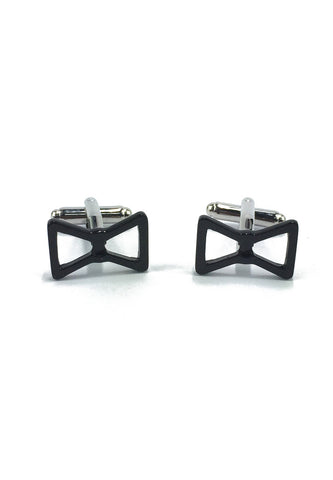 Black Bow Cufflinks