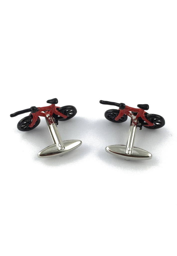 Red & Black Bicycle Cufflinks