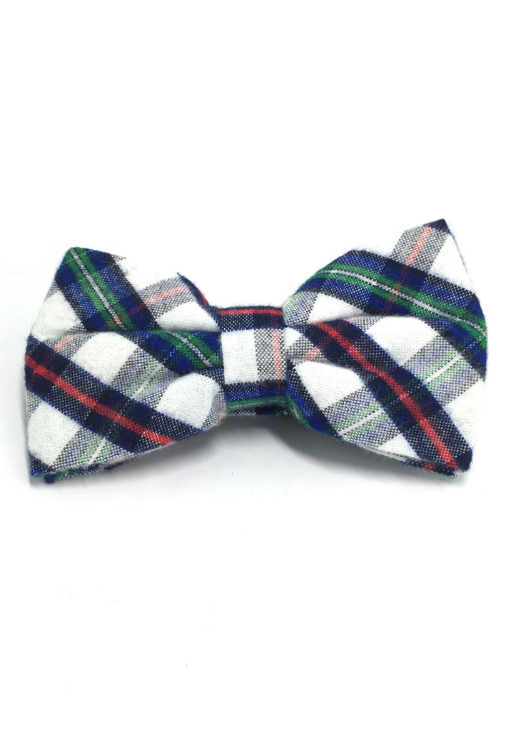 Probe Series Green, Red and White Tartan Design Cotton Pre-tied Bow Tie