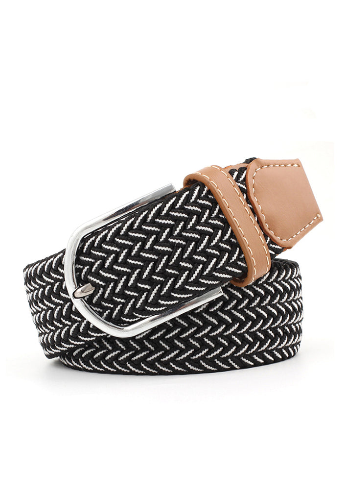 Entwine Series Black & White Braided Belts 2