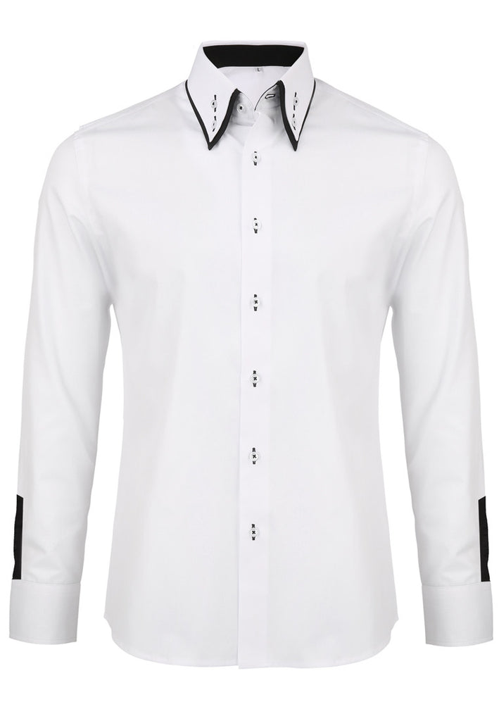 Rococo Series Plain White Shirt with Flowery Inners