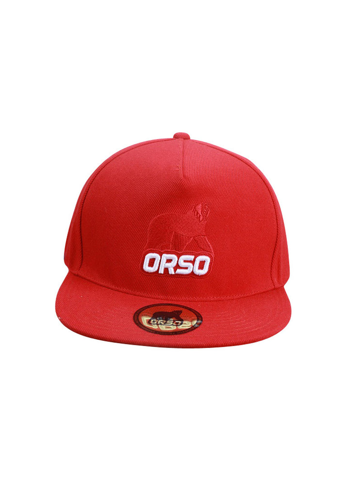Orso Limited Edition Red Bear Red Cotton Cap